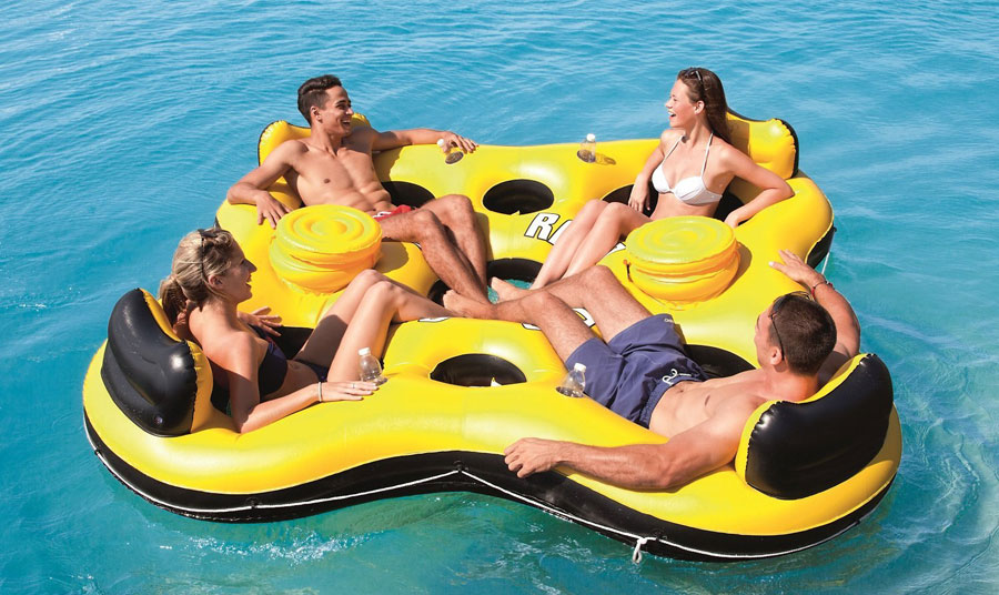 Bestway-Rapid-Rider-X4-Inflatable-4-Person-Floating-Island-Seat