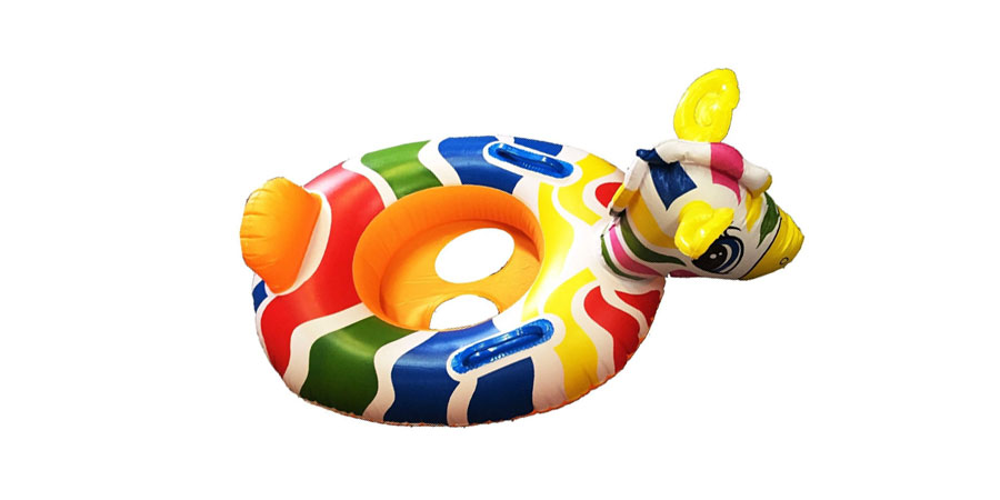 Kids-Baby-Inflatable-Pool-Swim-Ring-Seat-Float-Boat-Swimming-Aid-with-Wheel-Horn