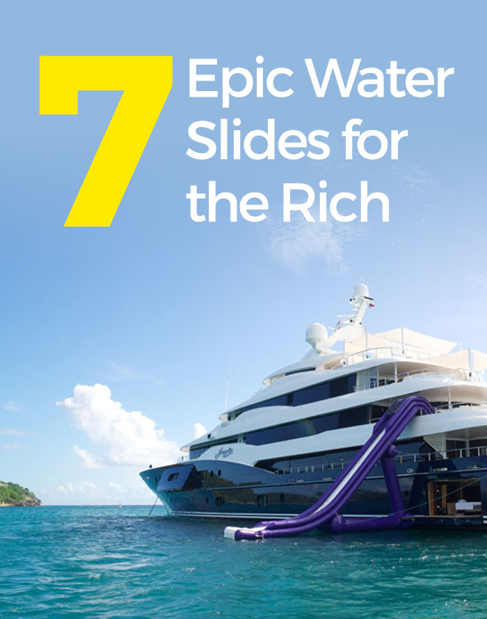 7 Epic Inflatable Water Slides for the Rich