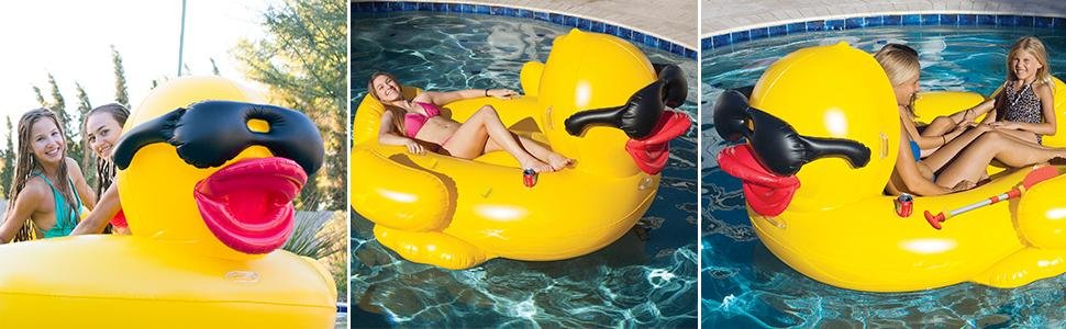 Giant Inflatable Pool Riding Derby Duck - Game 5000