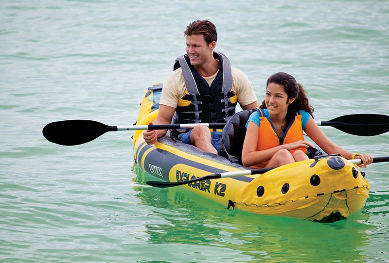 Intex explorer k2 kayak review which inflatable for 2 person kayak fishing