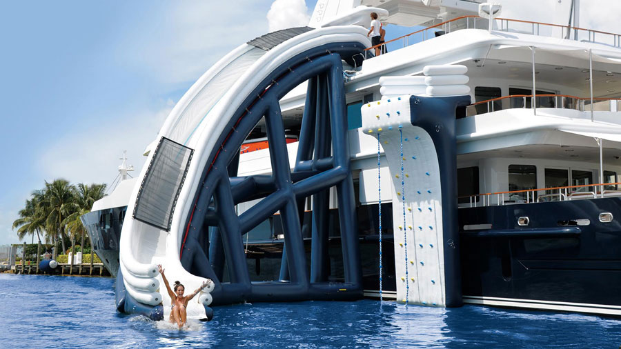 Epic Inflatable Water Slides for the Rich