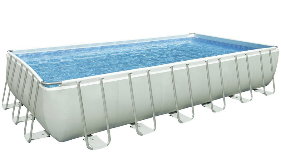 Intex 24Ft X 12Ft X 52In Ultra Frame Pool Set with Sand Filter Pump & Saltwater System