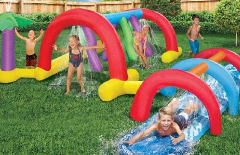 Backyard Adventure Water Park Slide Sprinklers
