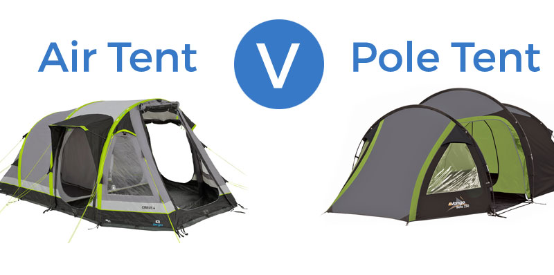 Inflatable Air Tents Vs Pole Tents