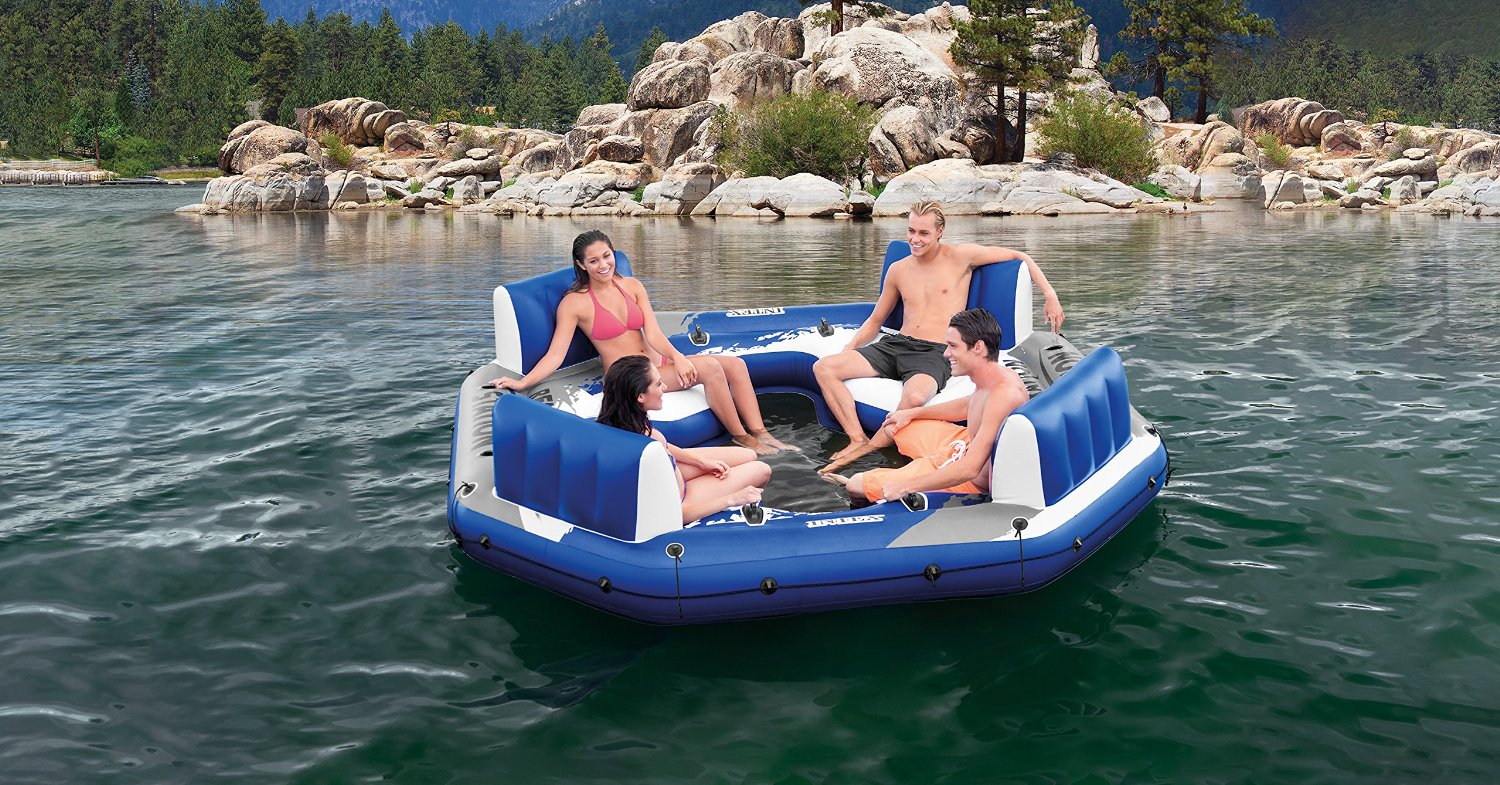 Relaxation Station Pool Lounge: Best Inflatable Pool Rafts & Floats For The Beach 2019