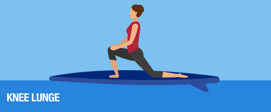 Knee Lunges Yoga SUP